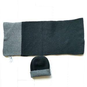 wool knit hat & scarf set Gap